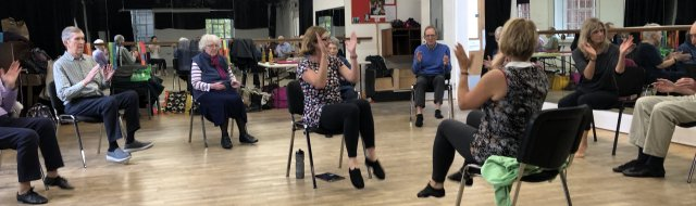 KT and Jackie's Dance for Parkinson's Exeter Banner